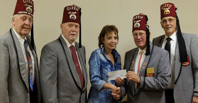 Shriners Donate to Breakfast Club image