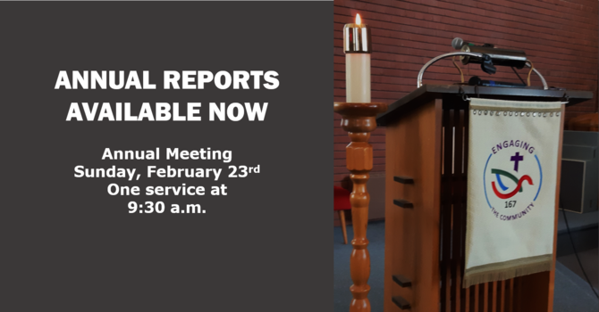Annual Report and Meeting image