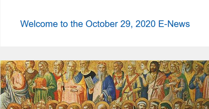 Link to the October 29, 2020 E-News image