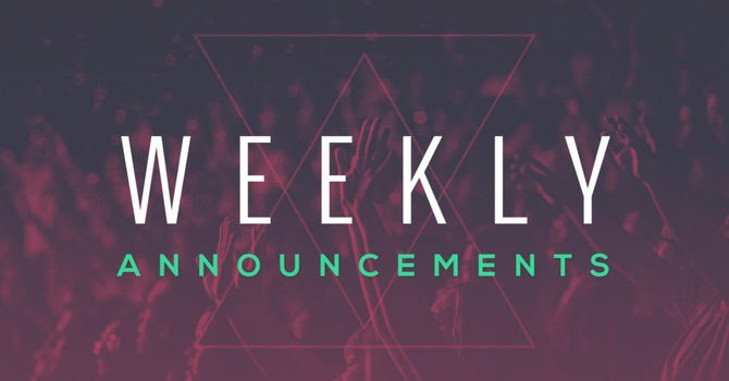Weekly Announcements September 13th, 2020 image