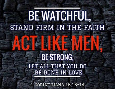 1 Corinthians 16 -13&14