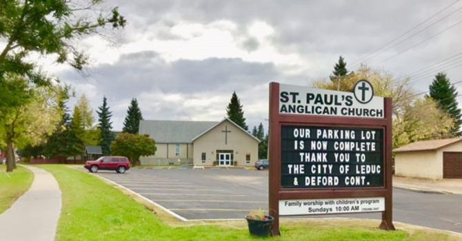 St. Paul's, Leduc Grateful for Parking Lot Improvements