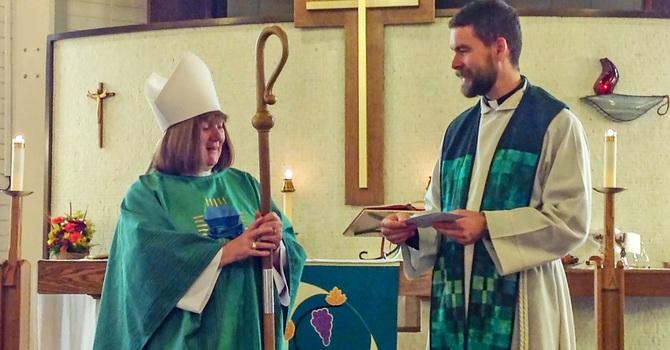 St. Augustine's Presents $5-5 Ways Donation to Bishop Jane image