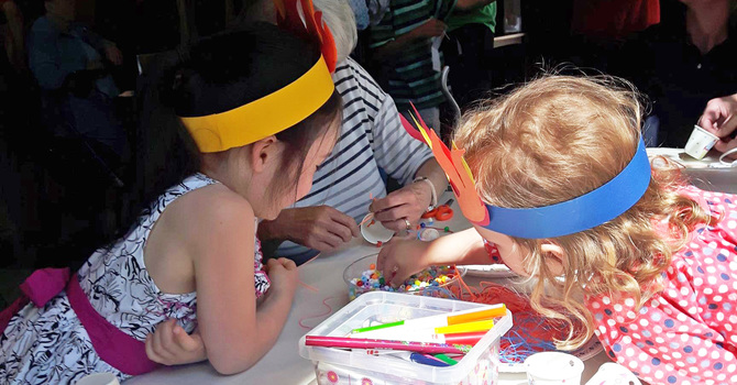 St. Augustine's Parkland brings the fire of the Spirit to Messy Church