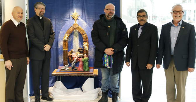 Clay Nativity Unveiled at City Hall image