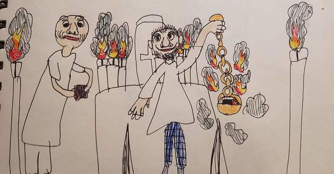 Young Artist 'WOWs with Sketch of High Mass at St. Stephen's image