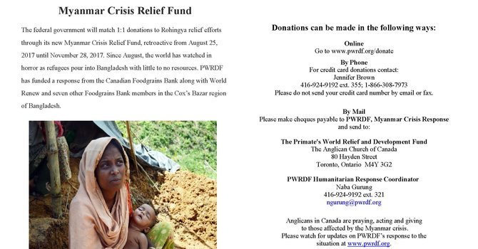 PWRDF Responds to the Myanmar Crisis  image