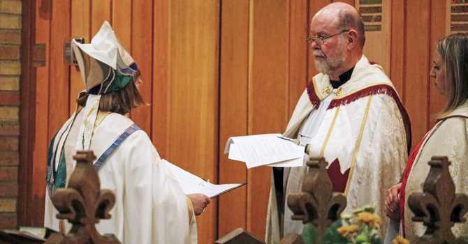 Lapsley Installed Honourary Canon of Healing and Reconciliation