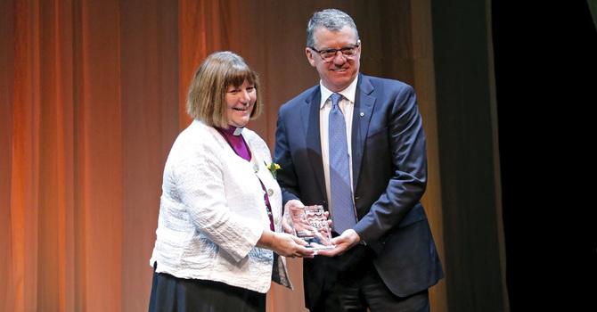 Bishop Jane Alexander honoured at U of A Alumni Awards image