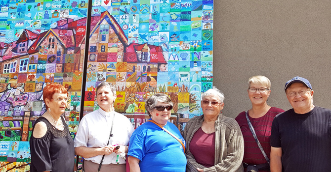 St. Saviour's, Vermilion Celebrates Canada 150 Mosaic Unveiling image