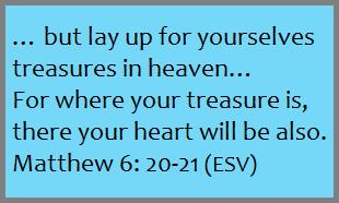 Matthew 6:20-21