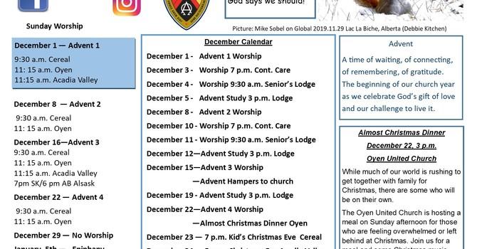 December Announcements image