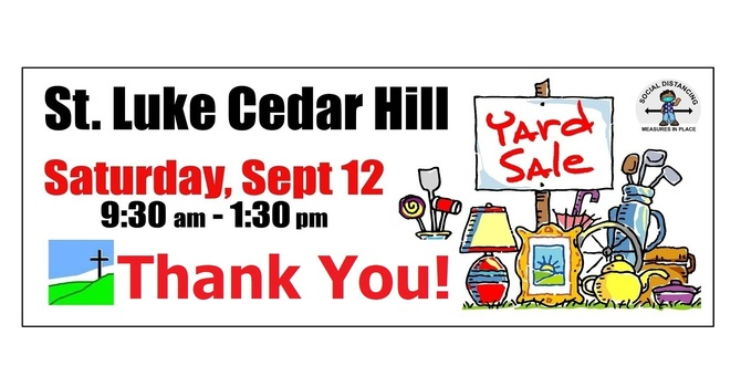 St. Luke's Yard Sale 2020 - Thank You! image
