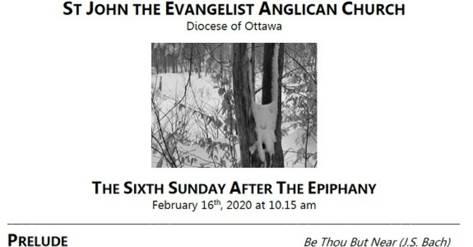 The Sixth Sunday after the Epiphany