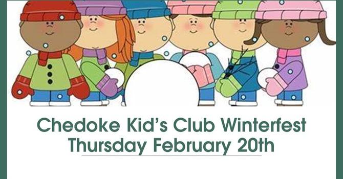 """Kid's Club  """"Winterfest"""" ~ Thurs. Feb. 20, 2020"""