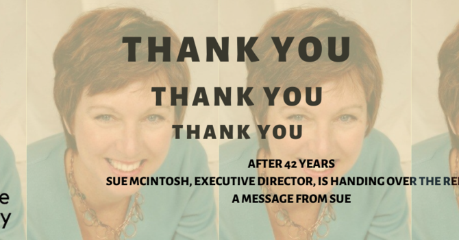 After 42 years, ED - Sue McIntosh, is handing over the reins image