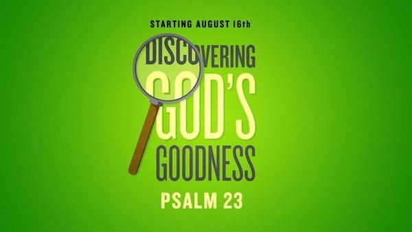 Psalm 23 'Discovering God's Goodness'