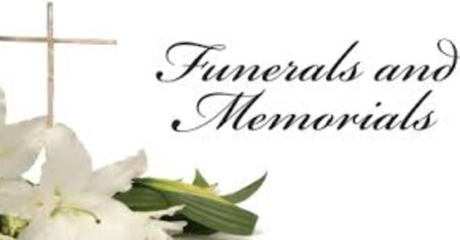 Memorials/Funerals/Celebrations of Life