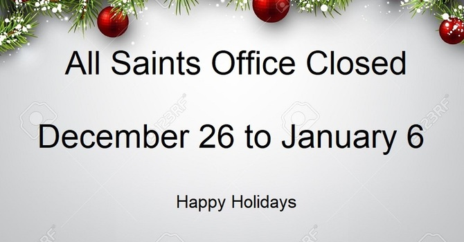 All Saints Office Closed image