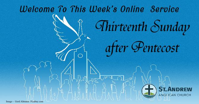 August 30, 2020 On-Line Sunday Service image