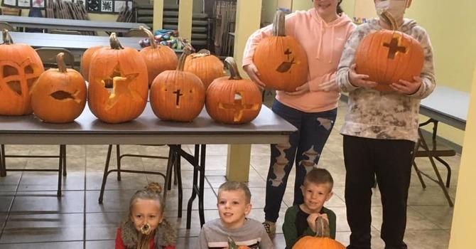 ZFF Carves Pumpkins for Christ image