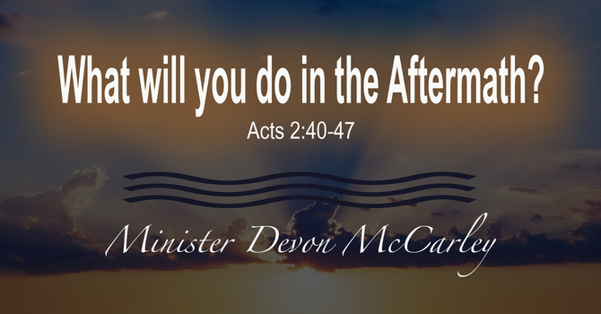 What Will You Do In the Aftermath?