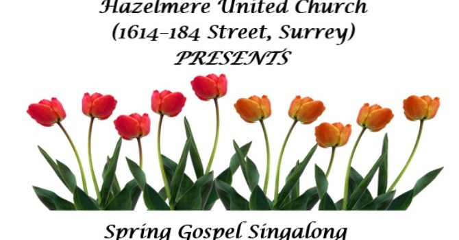 Gospel Sing-a-long  (April 15 at 7 pm) image