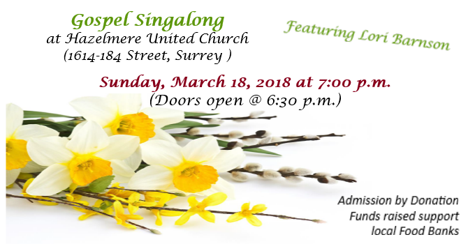 Gospel Sing-a-long (featuring Lori Barnson) image