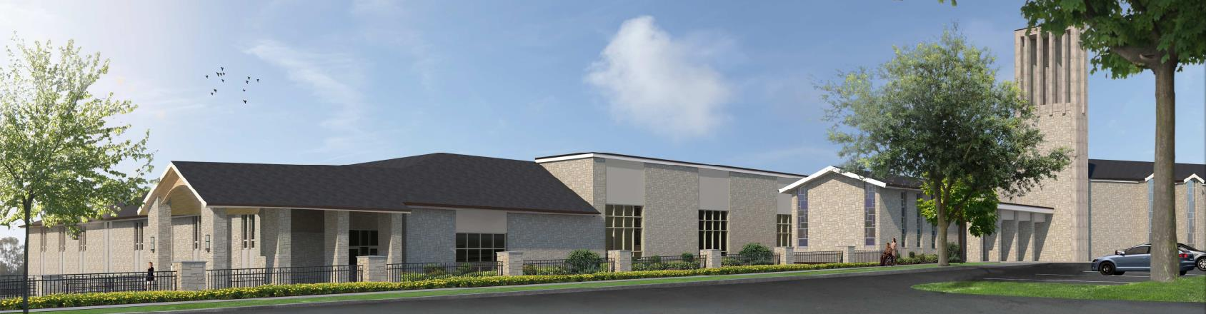 3D Rendering of New Building Exterior