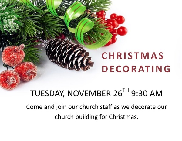 Christmas Decorating Volunteers Needed
