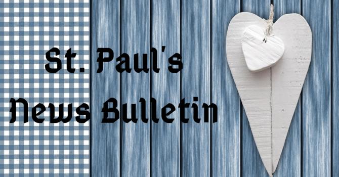 St. Paul's November 1st News Bulletin image