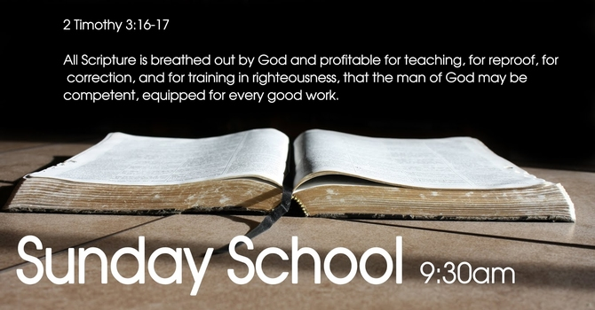 Adult Sunday School - On Hold During Covid-19