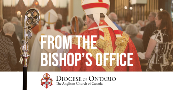 Bishop's message on Ontario Government's new directive on social gatherings image