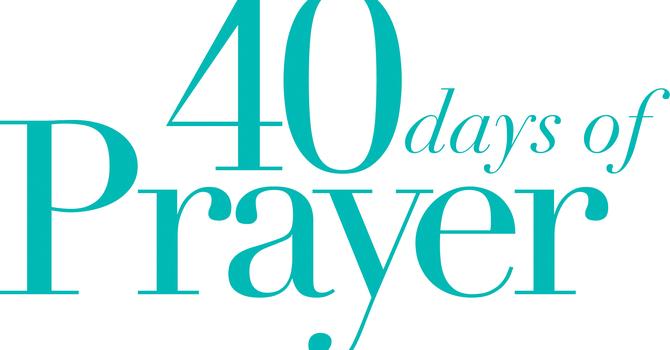 40 Days of Prayer image