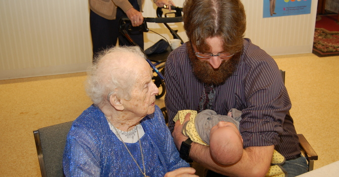 Oldest and youngest attend November 15 service image