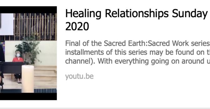 """HEALING RELATIONSHIPS"""