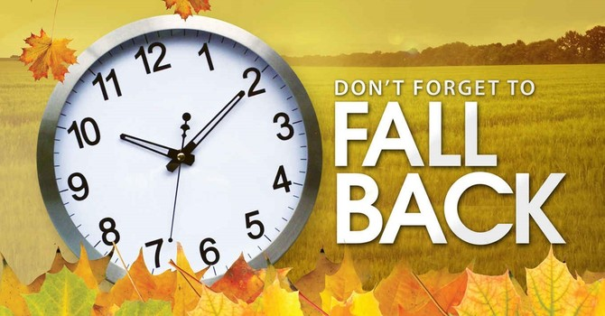 FALL BACK and Change the Clock BACK an Hour! Enjoy the extra hour of sleep!  image