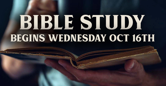 Bible Study to begin again! image