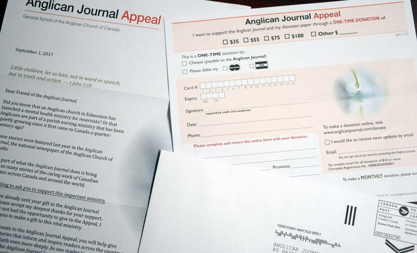 Anglican Journal Appeal Reminder
