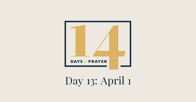 14 Days of Prayer Devotional: Day 13 image