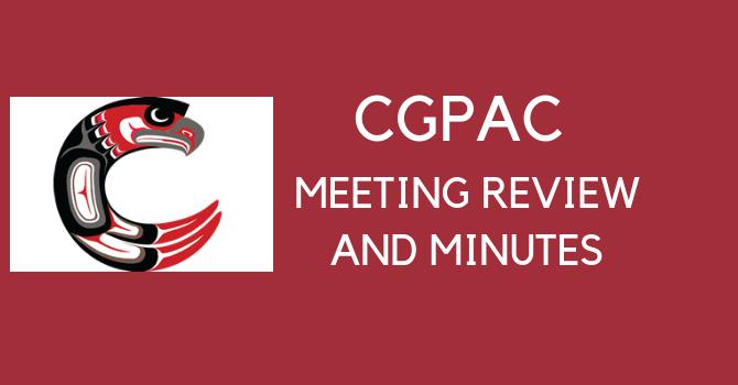 Carson Graham Meeting Review &  Minutes - April