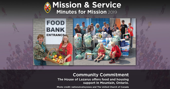 Minute for Mission: Community Commitment image