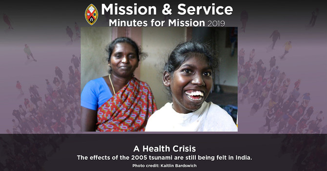 Minute for Mission: A Health Crisis image