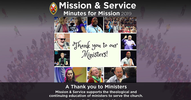 Minute for Mission: A Thank You to Ministers image