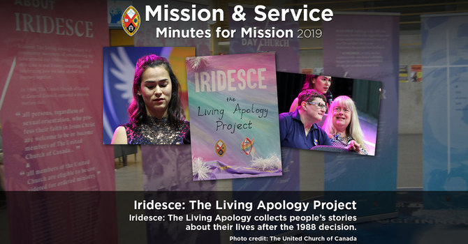 Minute for Mission: Iridesce—The Living Apology Project image