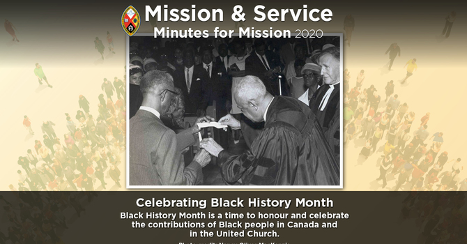 Minute for Mission: Celebrating Black History Month