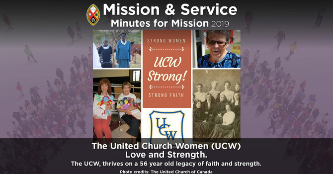 Minute for Mission: United Church Women – Love and Strength image