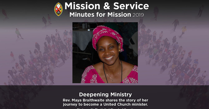 Minute for Mission: Deepening Ministry image