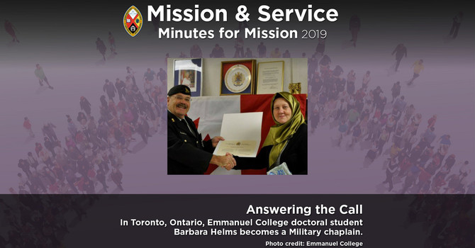 Minute for Mission: Answering the Call image