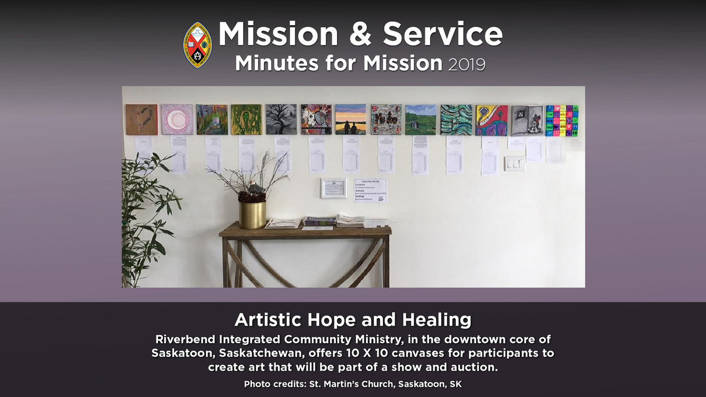 Minute for Mission: Artistic Hope and Healing | Outreach